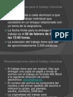Recomendaciones Para El Trabajo Individual EP GDB 2011 - 2012 Presentación