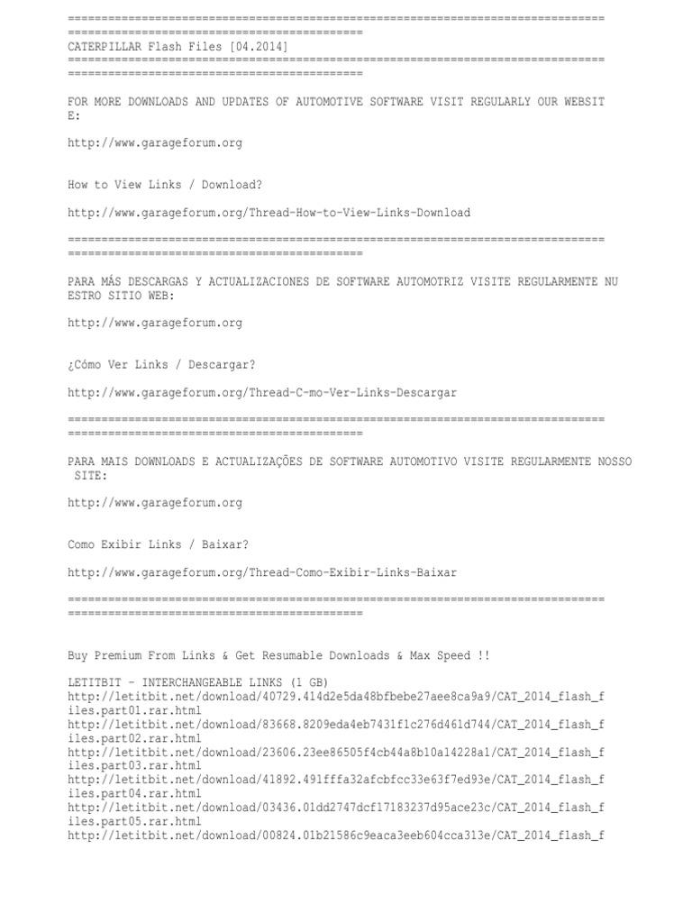 Caterpillar Flash Files [04 2014]   Informática   Tecnología