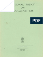 National Policy of Education 1986_eng