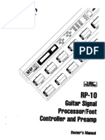 Manual de multiefectos digitech rp10