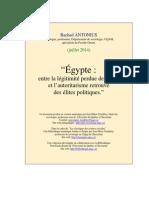 Egypte Entre Legitimite Et Autoritarisme