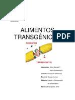 informe ALIMENTOS TRANSGÉNICOS