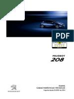 208 Ficha Técnica Peugeot 208