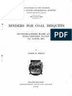 Binders for Coal Briquets