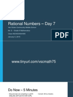 Lesson #35 - Ordering Integers and Rational Numbers