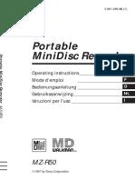 Sony MZ-R50 Manual