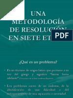 Una Metodología de Resolución en Siete Etapas