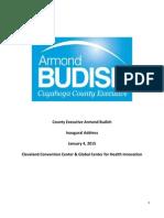 Armond Budish's Inaugural Address