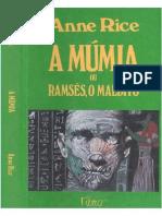 A Mumia, Ou Ramses o Maldito - Anne Rice