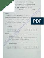 Série TD 3 (Polynome d'Interpolation ) Université Boumerdes 2012-2013 ( Www.espace-etudiant.net )
