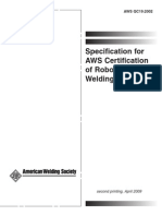 AWS QC19 Standard for the AWS Certification of Robotic Arc Welding Personnel