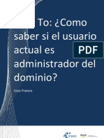 How to - Como saber si el usuario actual es administrador del Dominio
