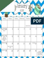 January IXL Calendar