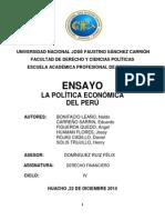 La politica economica en el Peru
