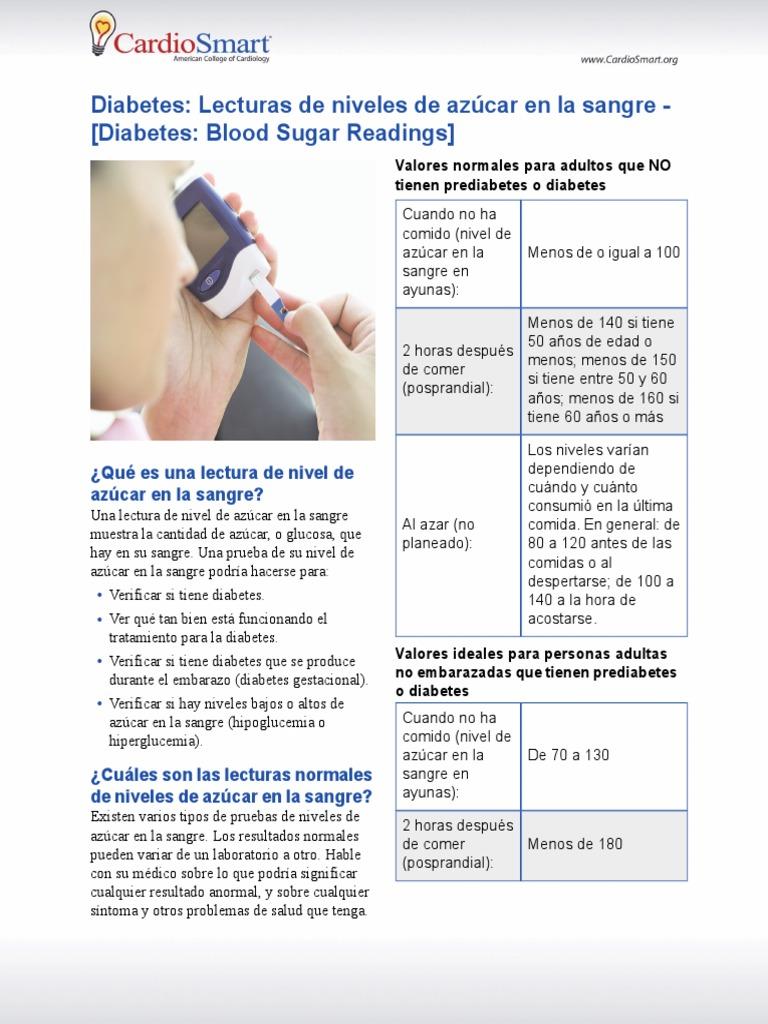 asociación americana de diabetes azúcar en la sangre al azar