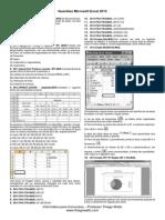 Questões - Microsoft Excel 2013
