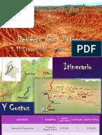 ITINERARIO DESIERTO DE LA TATACOA