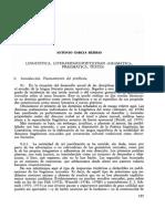 Garcia Berrio, Antonio- Lingüística, Literaridad-poeticidad (Gramática, Pragmática, Texto)