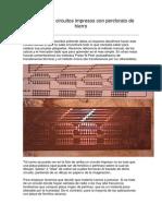 Como Hacer Circuitos Impresos Con Perclorato de Hierro
