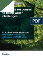 CDP Water Disclosure Global Report 2012