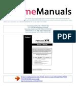 User Manual Roland Fantom Xr e