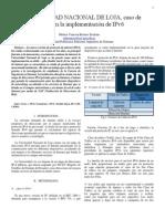 Caso de Implementacion IPv6