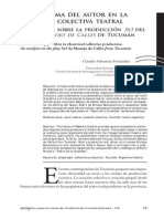 El problema del autor en la creación colectiva teatral Un análisis sobre la producción 3x3   del grupo Manojo de Calles   de Tucumán