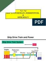 Horsepower Hull Resistance