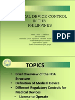 Medical Device Control in the Philippines