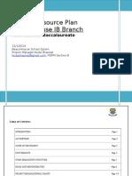 IB Human Resource Plan