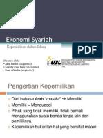 Ekonomi Syariah [Kepemilikan dalam Islam]