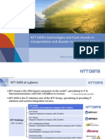 NTT Data's Technologies and Track Records in Transportation and Disaster Management Domain