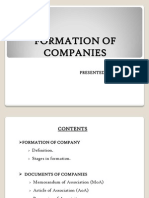 Formation Of A Company