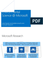 Microsoft Research Presentation