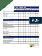 Template Internal Audit Schedule