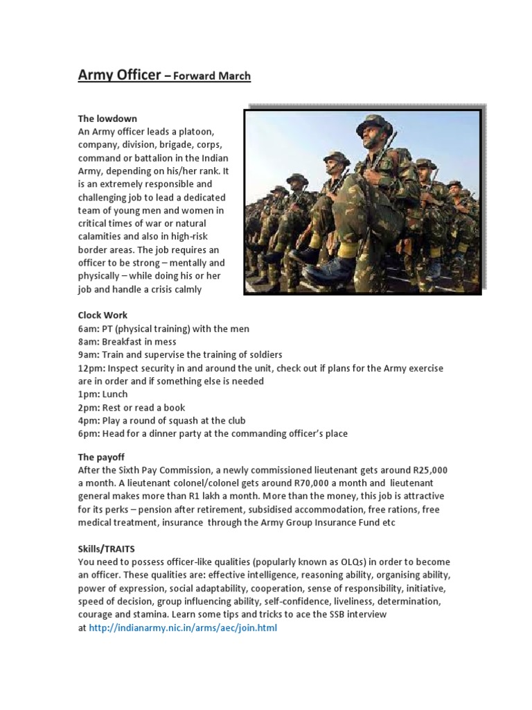 Army Officer | Officer (Armed Forces) | Defense Policy