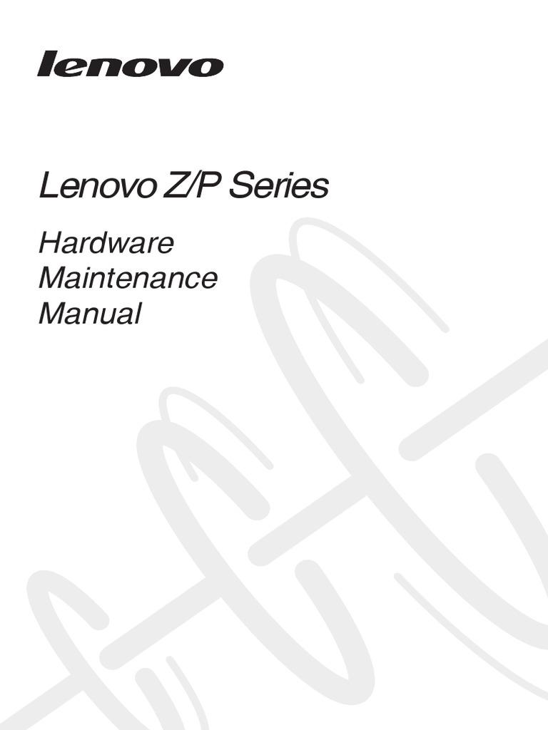 Lenovo Z/P Series: Hardware Maintenance Manual