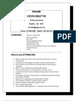 Resume Kevin Beattie
