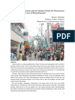 Development Pressure and Citizen's Power for Preservation in Tokyo