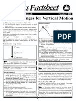 Energy Changes for Vertical Motion