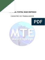 Tutorial Cadastro Trabalhador MTE