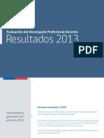 Resultados Evaluacion Docente 2013
