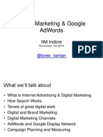 Digital Marketing and Adwords-iim Indore-nov1-Sreeraman