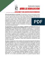 ¡VIVA LA REVOLUCIÓN! ¡MUERA EL IMPERIALISMO Y SUS LACAYOS REACCIONARIOS!