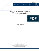 Design of Wind Turbine Foundation Slabs