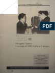 Mongolia Update - Coverage of 1998 Political Changes