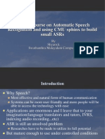 A Crash Course on Speech Recognition and Using CMU Sphinx to Build ASRs 379