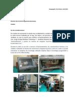 Informe Visita Técnica Tesis Inyectora Reed 100