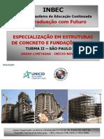 Estruturas de Concreto e Fundações - Turma 2 - Inbec Sp