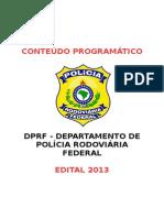 Conteúdo Programático DPRF 2013